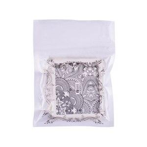 Image 5 - 40 시트/많은 네일 아트 물 전송 블랙 레이스 꽃 디자인 diy 네일 스티커 매니큐어 팁 장식 호일 세트 LAA625 672
