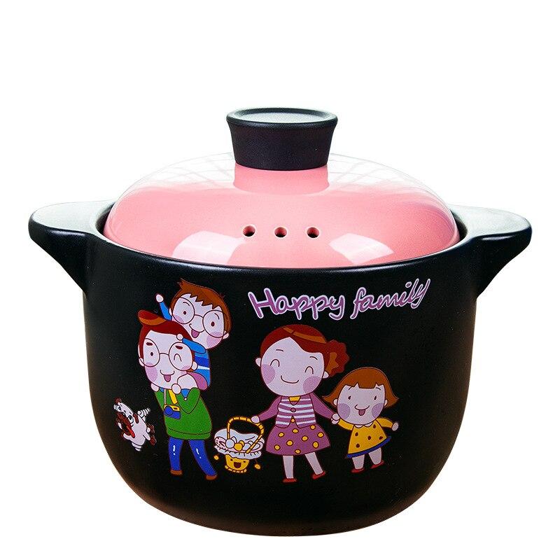 Pots de cuisine Pot à soupe ustensiles de cuisine résistant à la chaleur Casserole en céramique soupe Casserole Casserole naturelle