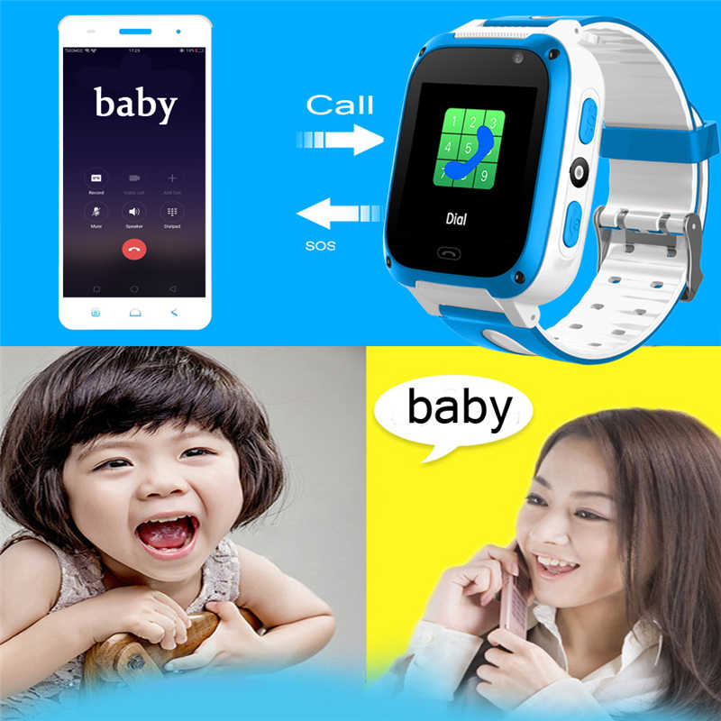 LIGE LSB Positioning Tracker Children Smart Watch Intelligent Voice Chat SOS Alarm Emergency Mobile Phone Security Smart Watc