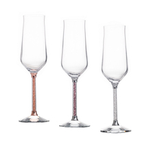 Crystal glass Champagne Flutes Wine Glass Crystalline Luxury Wedding Party Toasting Glasses Goblet home wedding gift