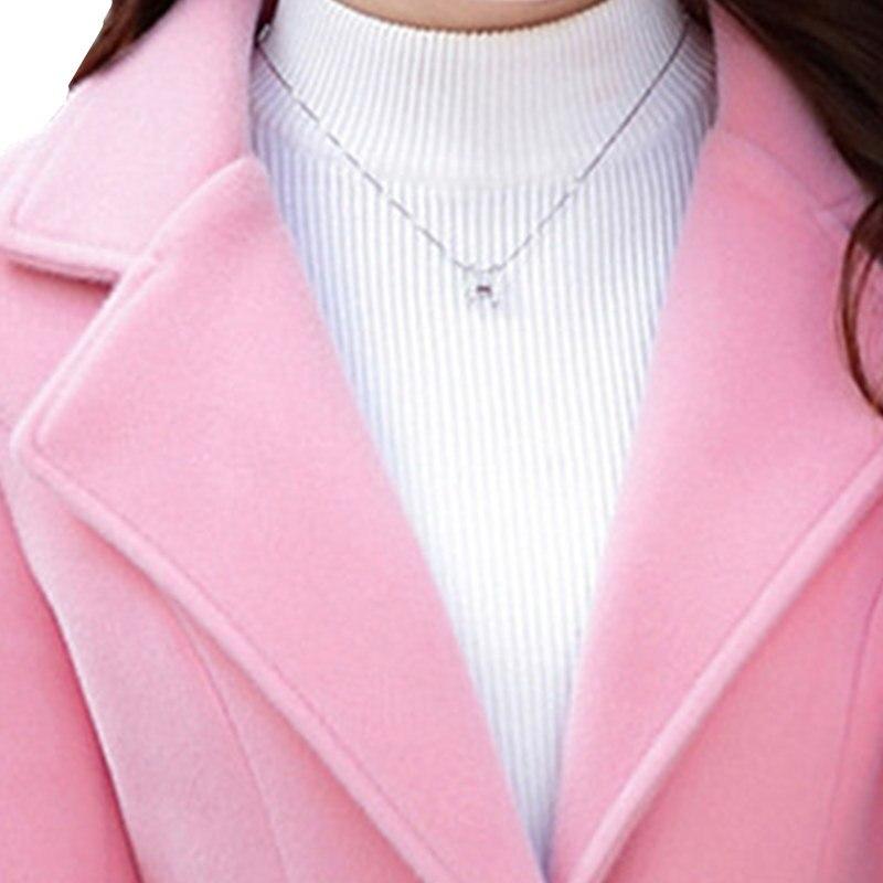 Coréenne Long Rose Grand Faux Laine 2018 Automne Taille Pink Harajuku Manteau Femmes De Chaud yellow Manteaux Pardessus D'hiver Femme Veste 8grqB8w