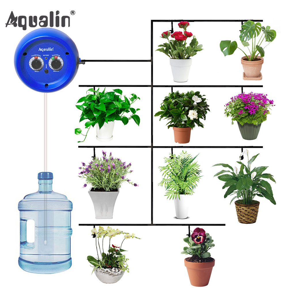 Automatic Drip Irrigation System Pump Controller Watering Kits  with Built in High Quality Membrane Pump Used Indoor#22079Watering  Kits