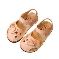 WEIXINBUY/повседневная кожаная обувь для девочек, однотонная детская обувь с бантом, 2 цвета