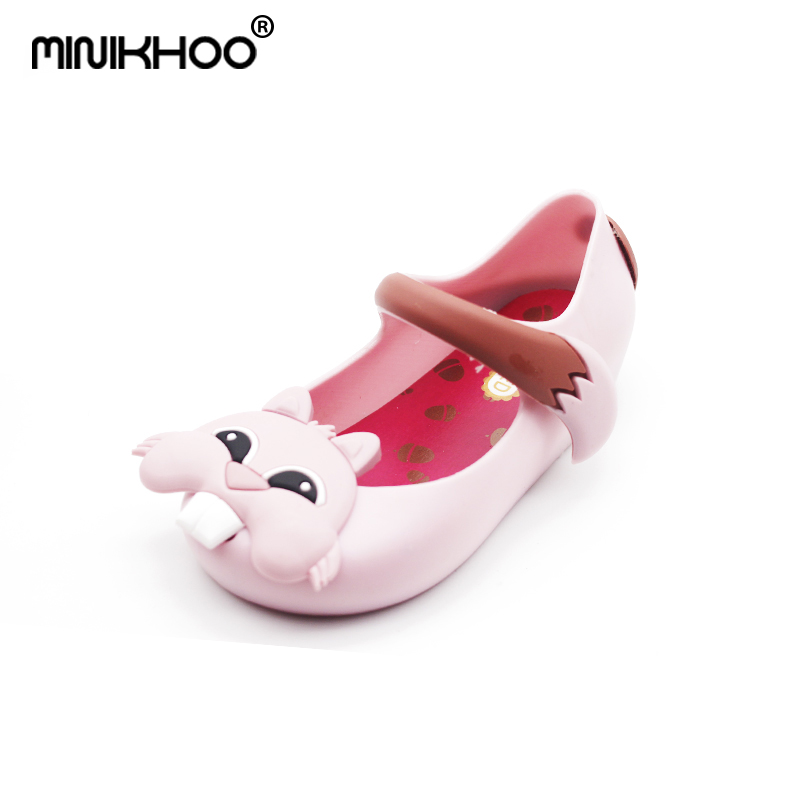 Mini Melissa NEW Squirrel Girls Jelly Sandals Jelly Shoes Girls Sandals Children Shoes Casual Children Beach Shoes Large Yards