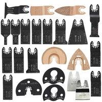 For Black&Decker Dewalt Carpet Leather Linoleum 24Pcs Set Saw Blades Quick Change Oscillating Cutting Brand New