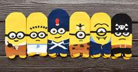 Recommend !! 12Pcs cartoon socks spring funny sock cute Despicable me cotton short socks SM887