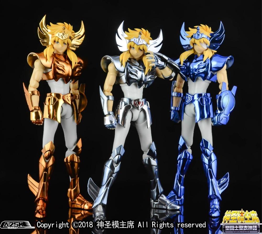 New Arrival Bandai เงิน Saint Hyoga Master ตำนานผ้า silver Saint Seiya คริสตัล Saints action figure เกราะโลหะ-ใน ฟิกเกอร์แอคชันและของเล่น จาก ของเล่นและงานอดิเรก บน   1