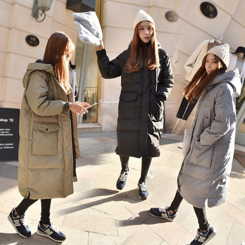 Long army Hiver Manteau Coton Lâche Outwear Ouatée Veste À Green Mode Noir Automne Chaud Grande gris Taille Capuchon 2018 Femmes Ll0415 Nouveau Occasionnel Rembourré 0xBqnwTt