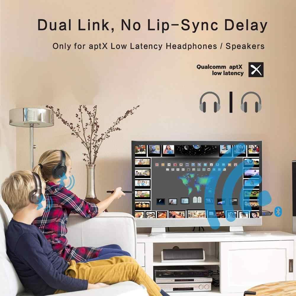 Dual Link Bluetooth 5,0 USB AptX низкая задержка аудио передатчик музыкальный адаптер для ТВ ПК Windows mac ноутбука nintendo PS4