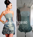 Sexy High Quality Boob Tube Top Real Make Picture Custom Made Short Mini Cocktail Dress Design CD666 Formal Cocktail Party Dress