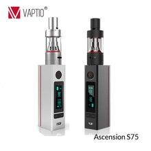 Vaptio S75 vape mods for sale 75w variable wattage mod ATC/Ni200/Ti/SS316L temperature control ecig box mods