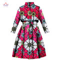 BRW 2017 Spring African Trench Coat for Women Plus Size African Clothing Africa Print Outfits Dashiki Office Outwear WY1165