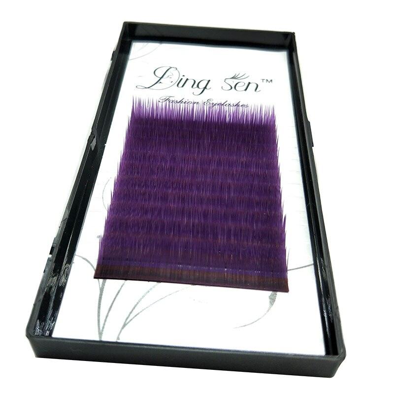 DINGSEN C D False Eyelashes Purple Highly Soft Exquisite Individual False Eyelash Eye Lashes Fake Eyelashes Extension
