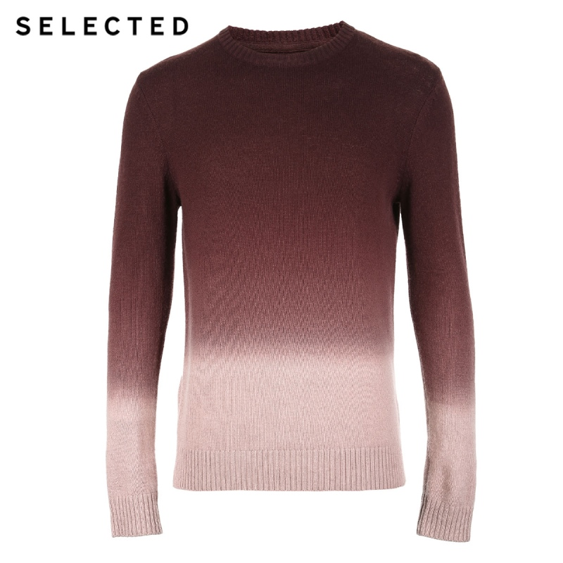 Image 5 - SELECTED Autumn Men's Sweater Pure Wool Gradual Change Business Casual Men Pullovers S  418425508-in Pullovers from Men's Clothing