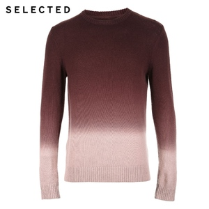Image 5 - SELECTED Mens Sweater Pure Wool Autumn Knit Gradual Change Business Casual Pullovers S