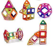 34pcs 36pcs Magnetic Building Toys 3D Magformers Block Building Diy Children Toy Bricks