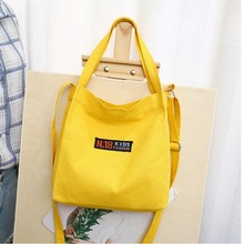 Women Canvas Shoulder Bags Environmental Reusable Shopping Bag Fashion Simple Crossbody Student Handbags