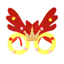 Fashion Adult children Christmas  frame Glasses Ornaments unisex Cool Design masquerade decorations New Year Gift