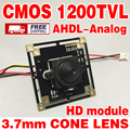 2016Sale HD Color 1/4CMOS FH8510+BY3006 Analog 1200TVL 960P ahdl Finished Monitor mini chip module 3.7mm pointed cone lens ircut