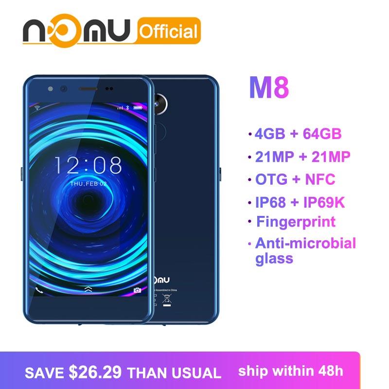 2019 Nomu M8 Mobile Phone IP68 IP69K Waterproof MTK6750T Octa Core 5 2 21MP 21MP 4GB