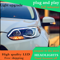 high quality Car styling Head Lamp case For Ford Focus MK3 2012 2014 Headlights LED Headlight DRL Lens Double Beam HID Xenon