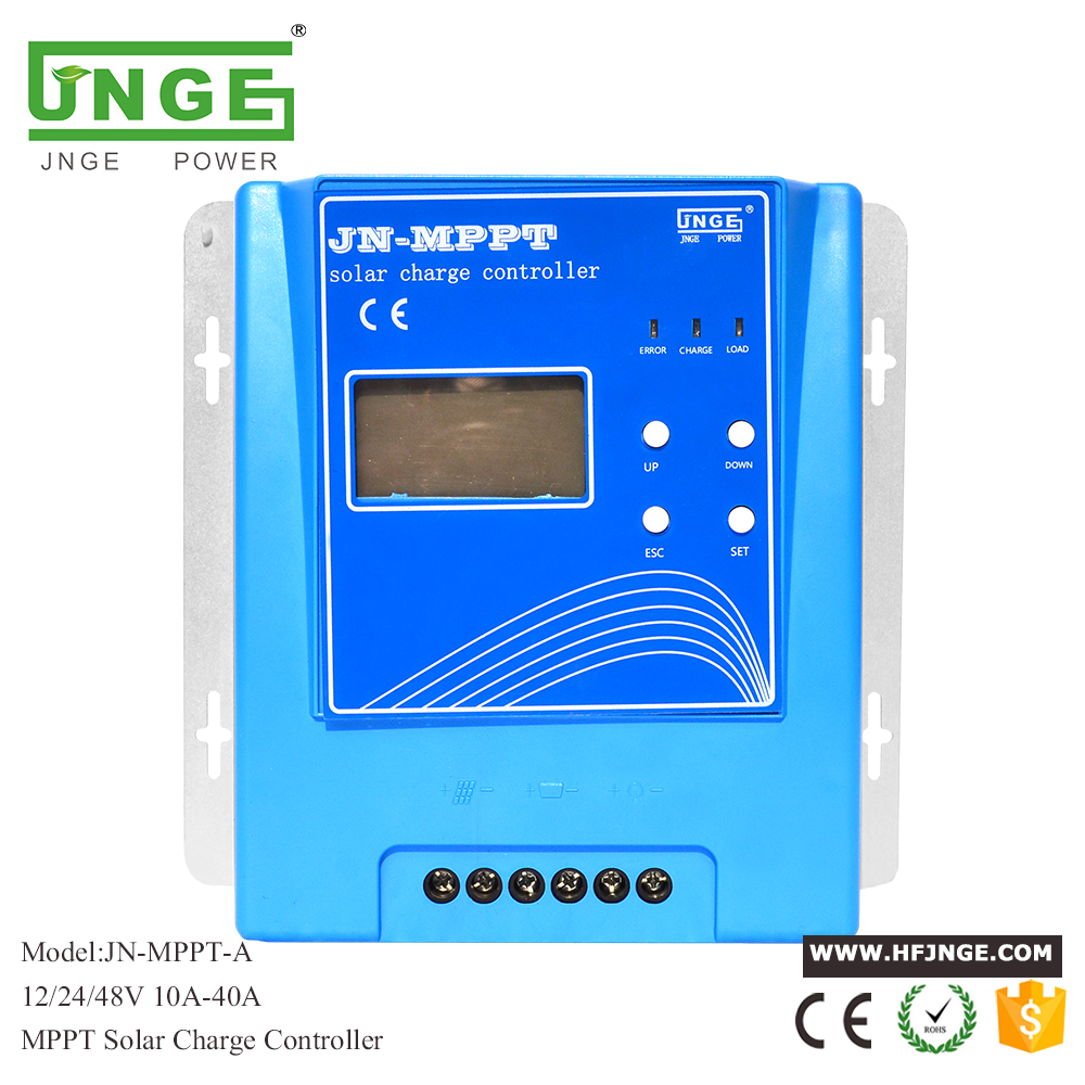 JNGE 40A Solar Controller MPPT Solar Charge Controller 12V 24V 48V MPPT Solar Panel Battery Regulator with Max. 150V PV input mppt 100a solar charge controller 12v 24v 36v 48v auto for max 150v input with memory function 2 years warranty solar regulator