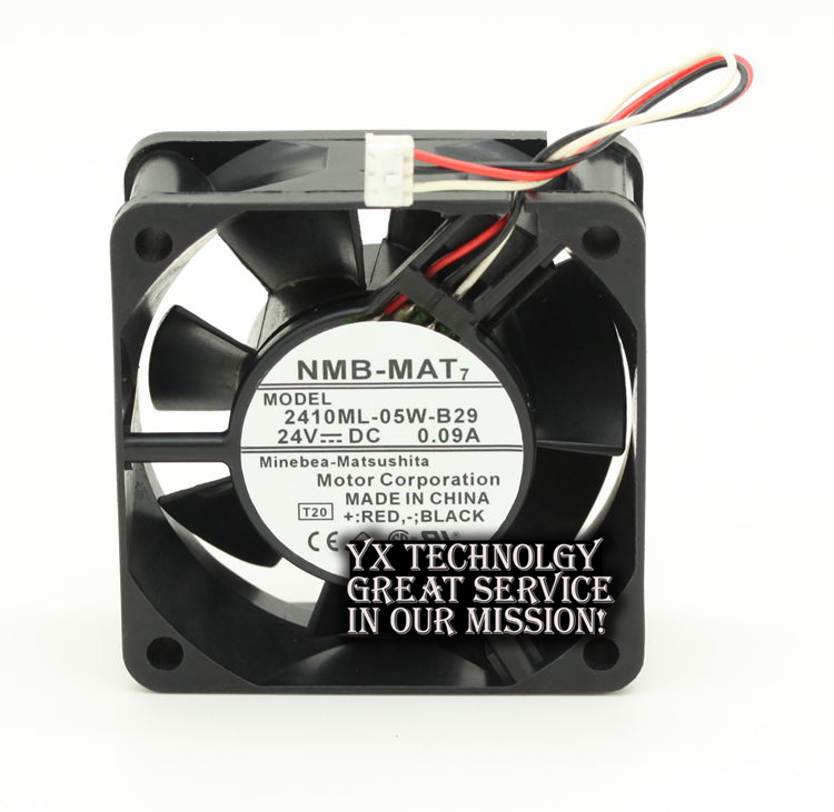 Original 2410ML-05W-B29 6025 6CM 24V 0.09A high stall warning double ball bearing fan for NMB 60 * 60 * 25MM