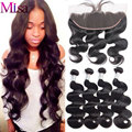 Preplucked Frontal Closure With 4 Bundle Ali Moda Brazilian Body Wave With Lace Frontal Closure Mink Brazilian Hair With Frontal
