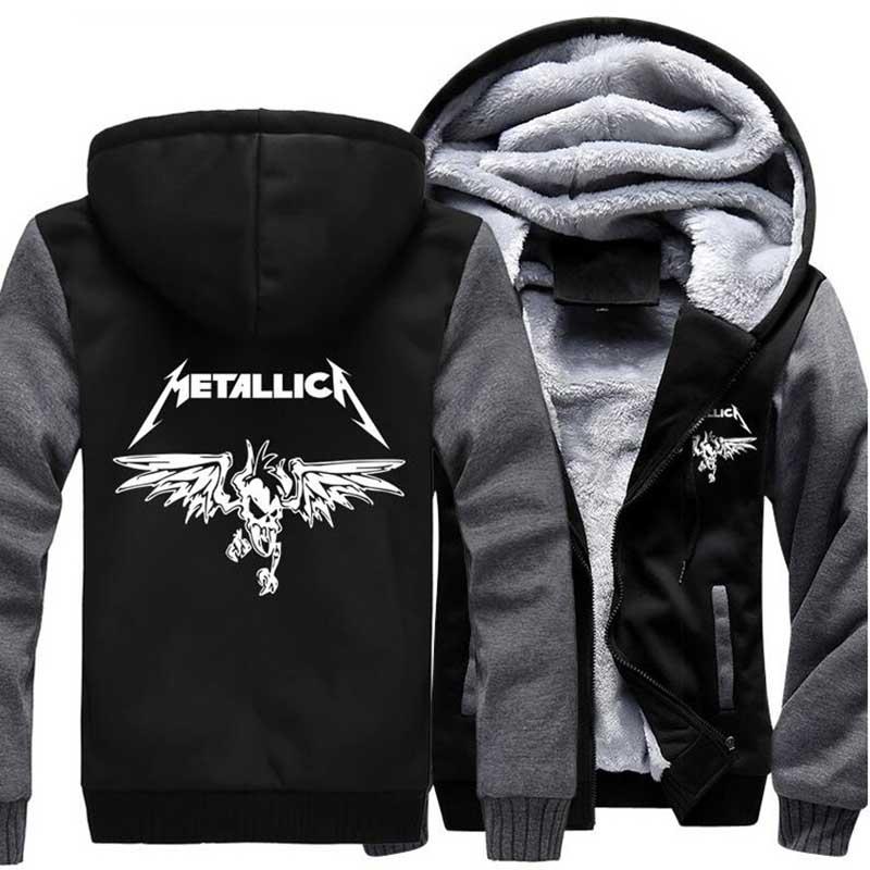 2017 Tracksuit brand hip hop drake streetwear zipper fleece homme jacket Classic Rock Heavy Metal Sweatshirt Men Hoody hipster