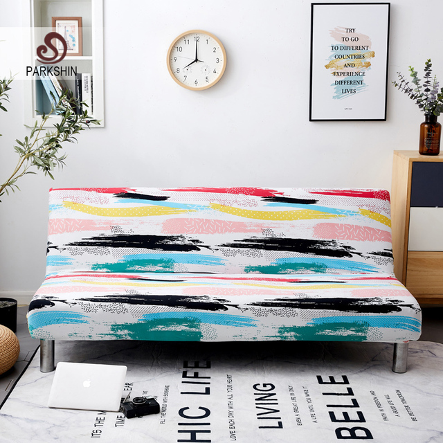 Parkshin Color All inclusive Folding Sofa Bed Cover Tight Wrap Sofa Towel Couch Cover Without Armrest housse de canap cubre sofa
