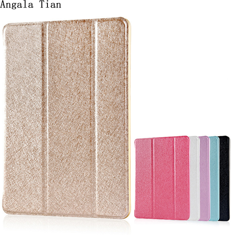 "Angala Tian Silk Luxury Ultra Thin PU Funda de cuero PC Magnetic Smart Flip Fold Cover Stand para Ipad Pro 12.9 ""Wake Up / Sleep"