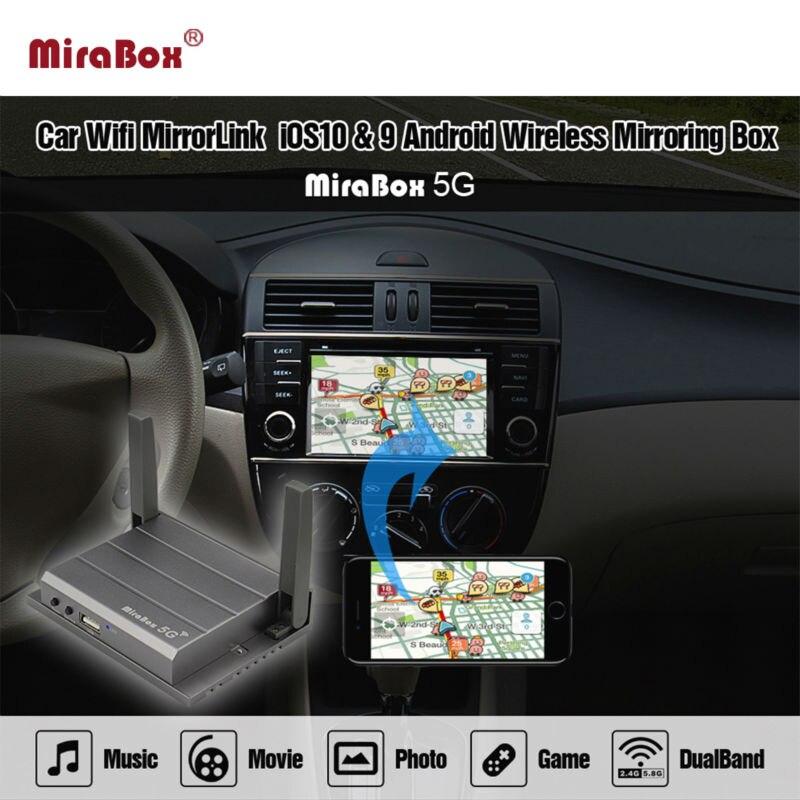 bilder für Auto WIFI Mirrorlink Box Für Android iOS Telefon Audio Video Miracast DLNA Airplay Wlan Smart Screen Mirroring Neue design