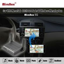 Автомобиль WI-FI MirrorLink Box для Android IOS Телефон аудио-видео Miracast DLNA AirPlay Wi-Fi Smart Экран зеркалирование новый дизайн