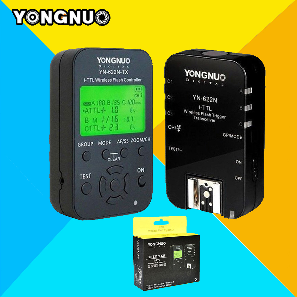 YONGNUO YN622N-KIT Wireless TTL ITTL HSS Flash Trigger Kit YN622N 622N Transceiver & YN622N-KIT Transmitter Controller For Nikon 2pcs yongnuo yn622n ii yn622n tx i ttl wireless flash trigger transceiver for nikon camera for yongnuo yn565 yn568 yn685 flash