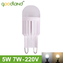 Goodand Brand G9 LED Lamp 5W 7W 220V Mini LED G9 Light Lampada LED Bulb High Power Dimmable Lighting Replace Halogen Lights