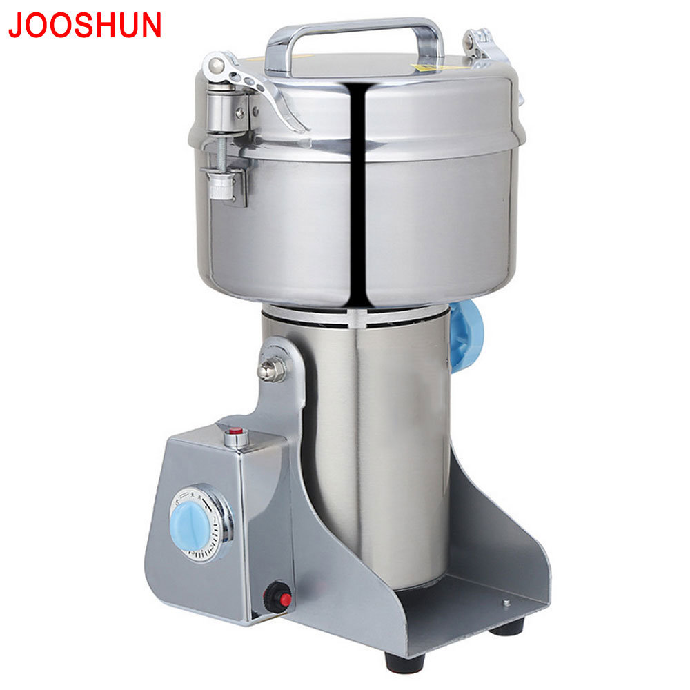 3.2KW Dry Food Mill Electric Grains Grinder Commercial Food Processor Swing Food Herb Rice Wheat Grain Flour Grinding Machine grain grinder 1000g mill powder machine swing type electric grains mill grinder for herb pulverizer food grade stainless steel