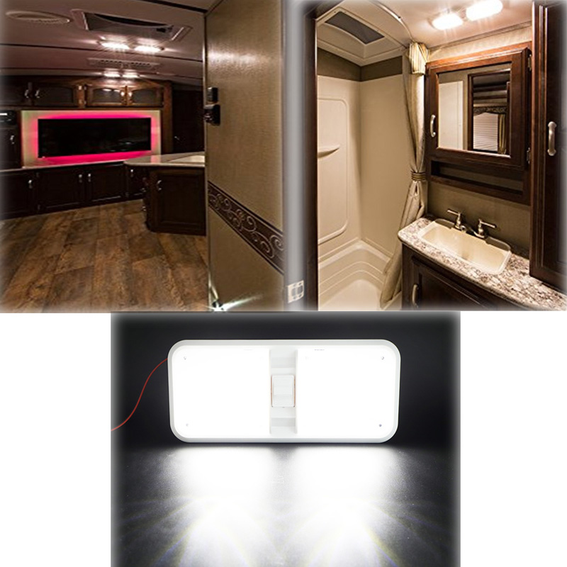 Image 5 - 12V RV Ceiling Dome Light RV Interior Lighting 48 Led 5050 for Boat Camper Trailer Camper with Switch 6000k 6500k Clear Light-in RV Parts & Accessories from Automobiles & Motorcycles