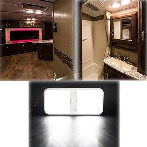 Image 2 - 12V RV Decke Dome Licht RV Innen Beleuchtung 48 Led 5050 für Boot Camper Anhänger Camper mit Schalter 6000 k 6500 k Klare Licht