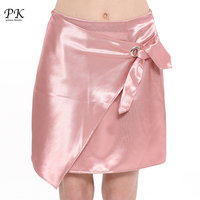 PK Pink Straight Skirt Summer Womens Pink Midi A Line Skirts Women Girls Beach Cute Lady Waistband Jupe Femme Saia Skirt Femme