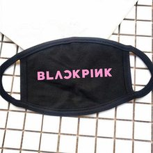 Kpop Blackpink Black Pink Cotton Face Mask Rose Lisa Jisoo Jennie Same Dust Proof Warm Mask New K-pop(China)