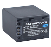 Battery Pack for Sony NP FH70, NP FH100 InfoLITHIUM H Series
