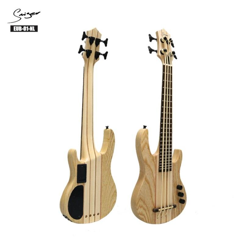 Ukulélé électrique basse 2019 Ubass guitare 30 pouces 4 cordes Mini basse UKU électro guitares pick-up érable haute qualité Ashtree