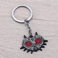 JM The Legend of Zelda keychain 2017 Movie Jewelry 4.5 cm Majoras Mask Shield Metal Key Ring for Game Fans porte clef Chaveiro