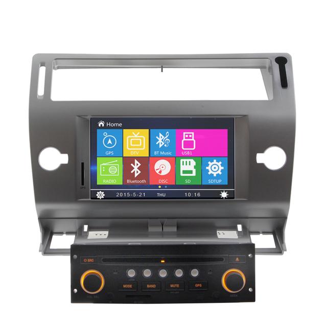 7'' Touch Screen Car Dvd Player Gps navigation For Citroen C4 2004-2010 Steering Wheel Control Rearview camera Bluetooth Canbus