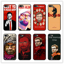 ФОТО liverpool manager mr. norbert klopp pattern soft black silicone tpu phone back cover cases for iphone 4 5s 6 7 8 plus x