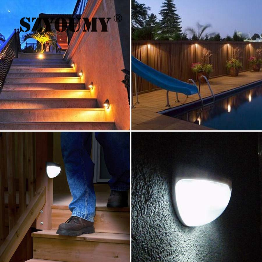 Szyoumy solar garden lights waterproof wireless security bright szyoumy solar garden lights waterproof wireless security bright light sensor light for outdoor wall yard patio path deck auto on in solar lamps from lights aloadofball Choice Image