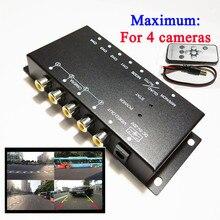 صورة الفيديو التحكم صورة التبديل 4 تقسيم الشاشة التحكم مربع تحويل لليسار الرؤية يمين عرض الجبهة الخلفية وقوف السيارات كاميرا مربع
