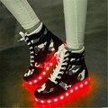 2017 бренд в красочный свет светящиеся обувь USB зарядки легкие женщины LED повседневная обувь легкие ботинки размер 35-44 zaoato