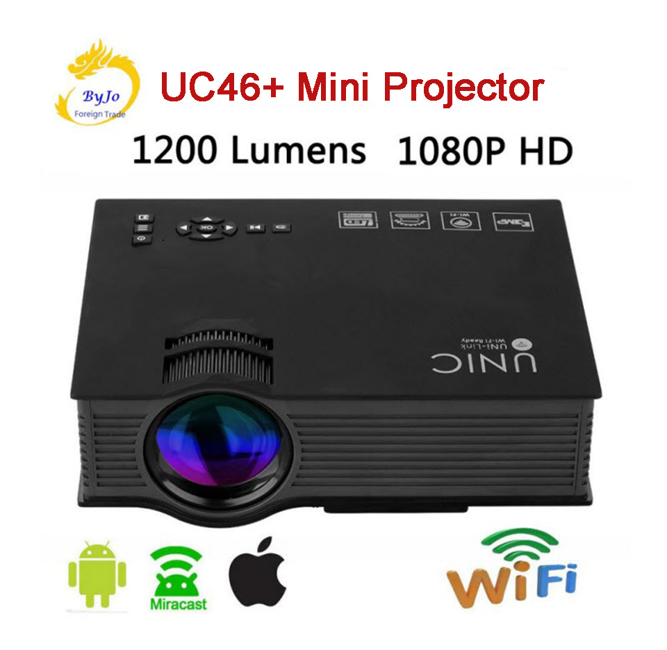 AirSharing theater multimedia projector Original UNIC uc46+ mini-led projector with Full HD 1080p Video