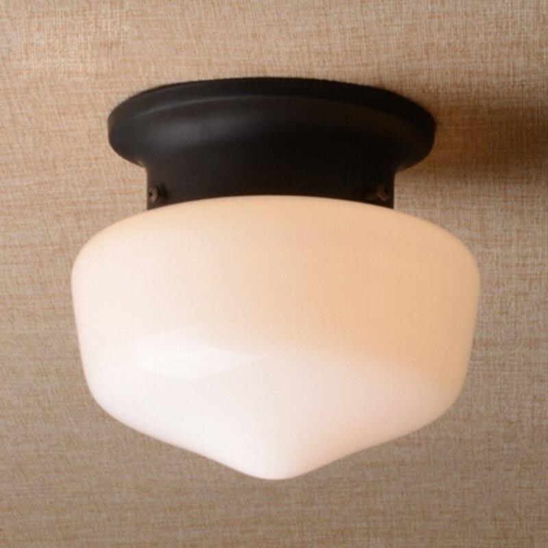 ФОТО White / Black ceiling lights led Glass Entranceway Balcony Ceiling Light Corridor Lighting  E27 modern lighting fixture